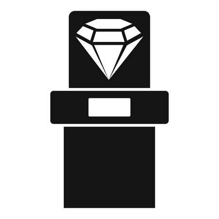 Big museum diamant icon, simple style