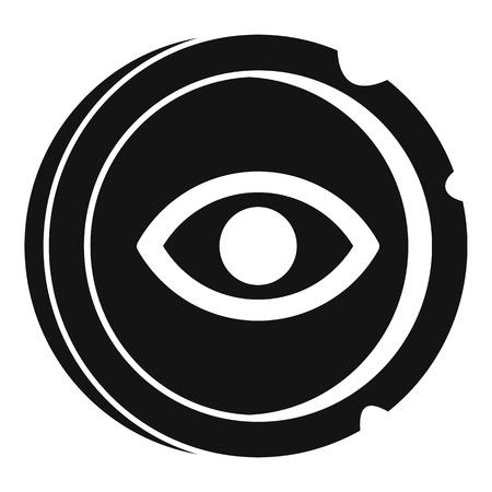 Icona antica moneta d'oro. Semplice illustrazione dell'antica moneta in oro icona vettoriali per il web design isolato su sfondo bianco Vettoriali