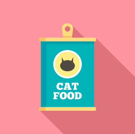 Cat food icon. Flat illustration of cat food vector icon for web design