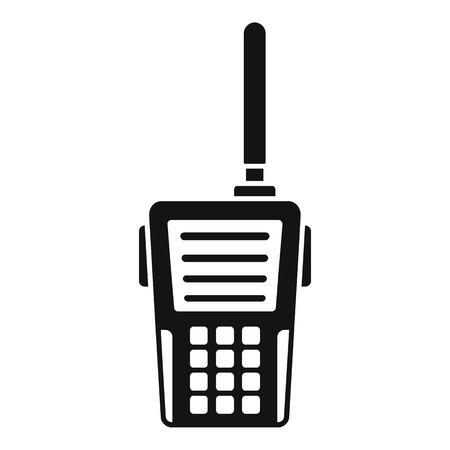 Icono de walkie talkie. Ilustración simple del icono de vector de walkie talkie para diseño web aislado sobre fondo blanco Ilustración de vector