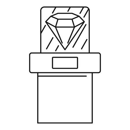 Big museum diamant icon, outline style