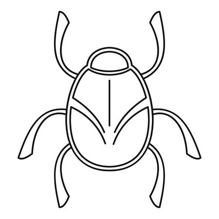 Golden bug icon, outline style