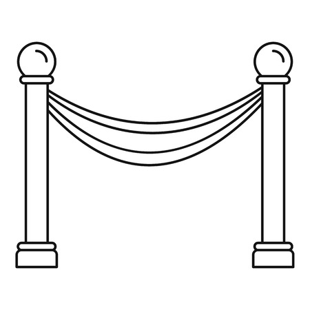 Museum barrier icon, outline style