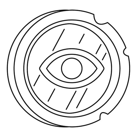 Ancient gold coin icon, outline style