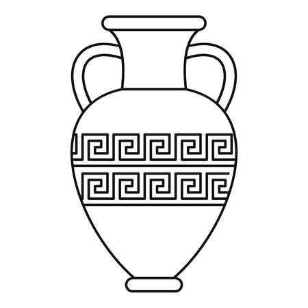 Ancient vase icon, outline style Иллюстрация