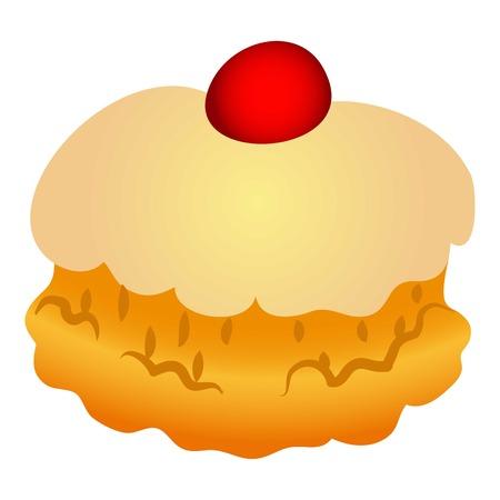Ikona słodkiej piekarni, stylu cartoon Ilustracje wektorowe