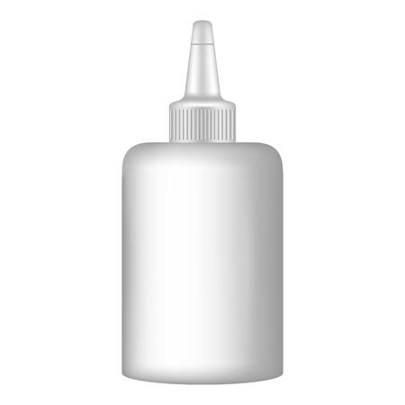 Schule-Kleber-Büro-Symbol. Realistische Illustration der Schulkleberbürovektorikone für das Webdesign lokalisiert auf weißem Hintergrund