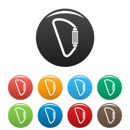 Carabine icons set color Illustration