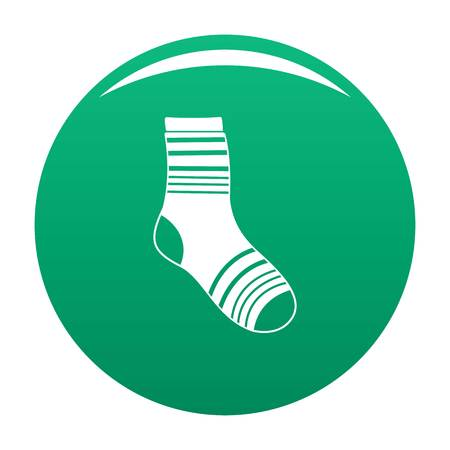 Boy sock icon vector green Ilustrace