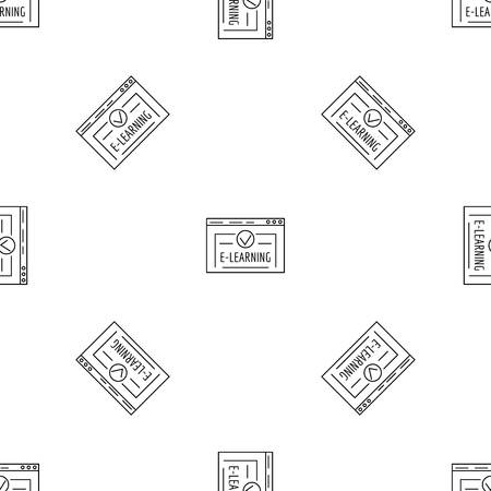 E learning pattern seamless vector repeat geometric for any web design Vettoriali