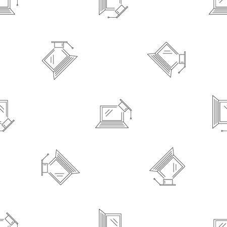 Online graduation pattern seamless vector repeat geometric for any web design 矢量图像