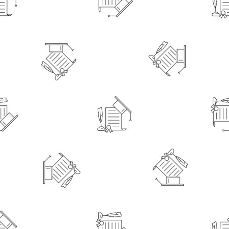 School diploma pattern seamless vector repeat geometric for any web design Ilustrace