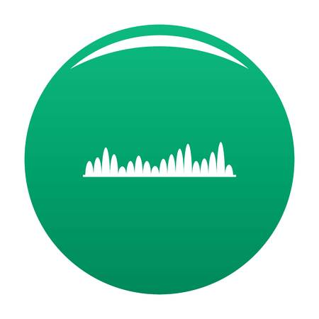 Equalizer level icon. Simple illustration of equalizer level vector icon for any design green Vectores