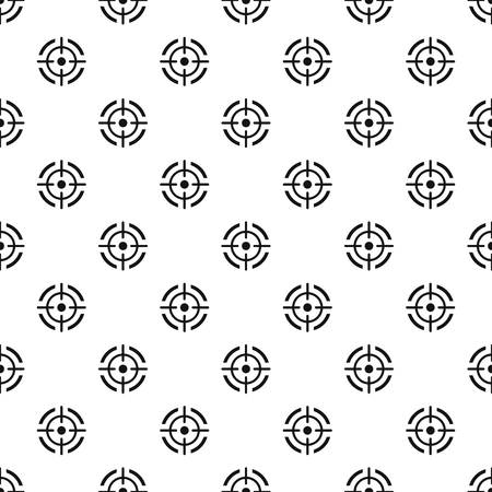 Aim target pattern seamless vector repeat geometric for any web design Illustration