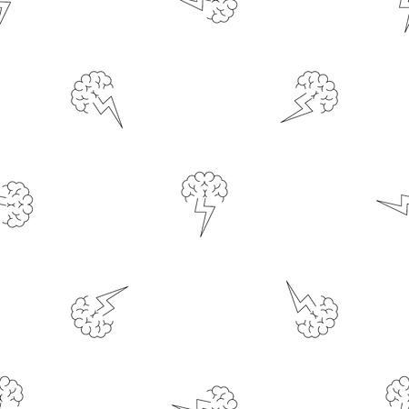 Brainstorming pattern seamless vector repeat geometric for any web design Vektorové ilustrace