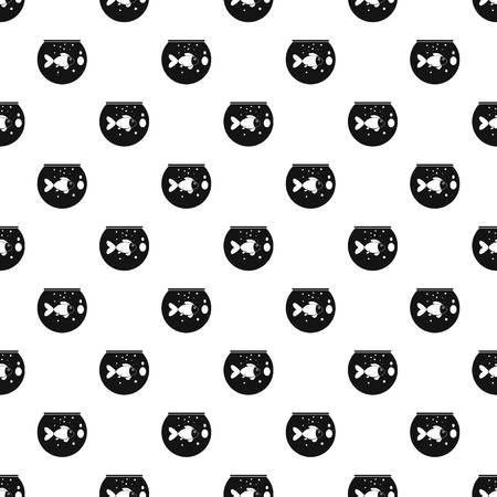 Fish round aquarium pattern seamless vector repeat geometric for any web design