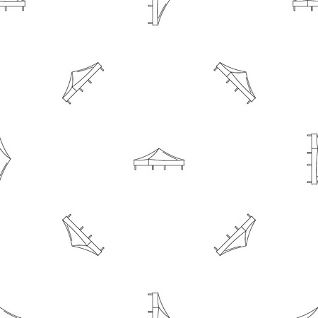 Piramide tent pattern seamless vector repeat geometric for any web design Illustration