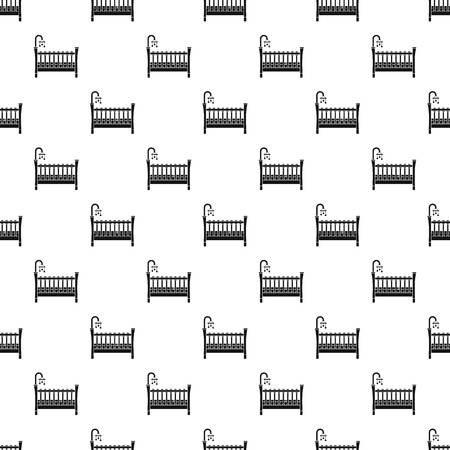 Baby crib pattern seamless vector repeat geometric for any web design Illustration