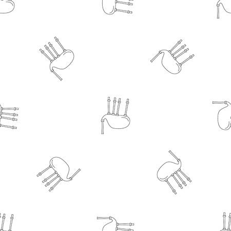Bagpipe pattern seamless vector repeat geometric for any web design Illustration