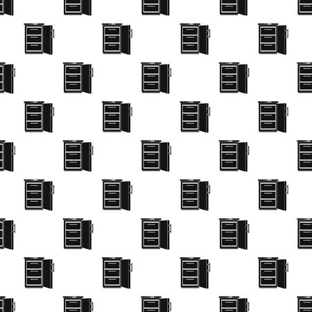 Refrigerator pattern seamless vector repeat geometric for any web design
