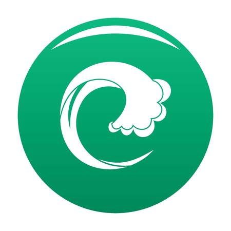 Wave water drop icon. Simple illustration of wave water drop vector icon for any design green 向量圖像