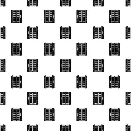 Open fridge pattern seamless vector repeat geometric for any web design