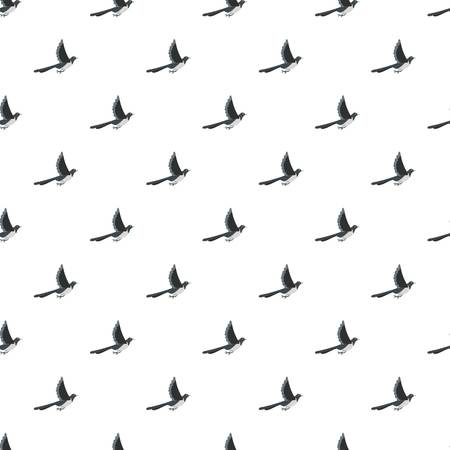 Flying magpie pattern seamless vector