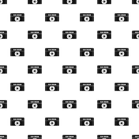 Sun cream pattern seamless vector repeat geometric for any web design Banco de Imagens - 127215001