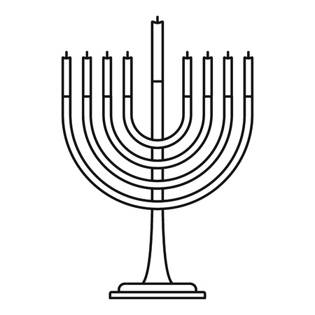 Menorah icon, outline style