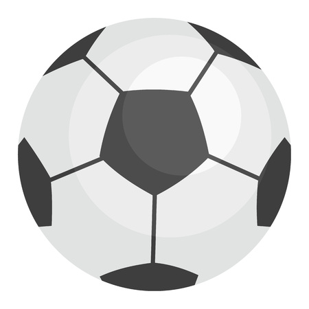 Football ball icon, flat style Stock Photo