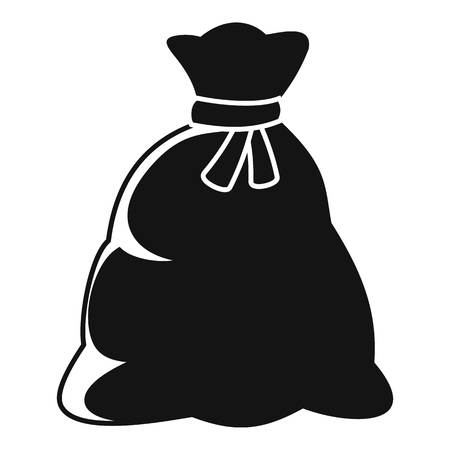 Santa sack icon, simple style