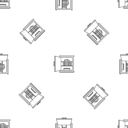 Open food fridge pattern seamless