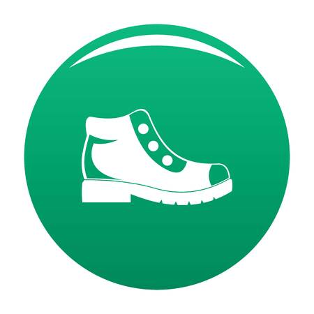 Hiking boots icon green