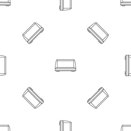 Commercial fridge pattern seamless Stock Photo