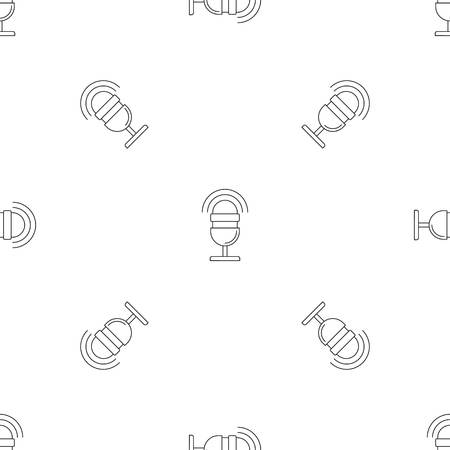 Studio microphone pattern seamless Banque d'images