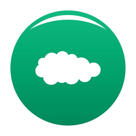 Summer cloud icon green Stock Photo