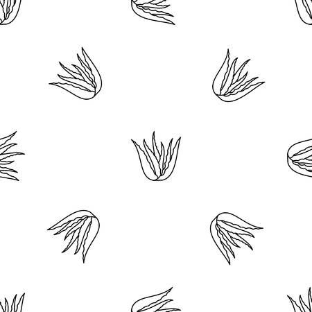 Aloe vera plant pattern seamless Banco de Imagens