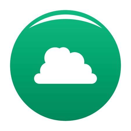 Mountainous cloud icon green