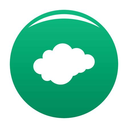 Cloud with downfall icon green