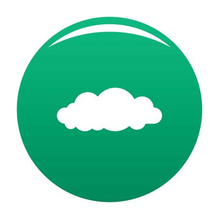 Altocumulus icon green Stock Photo