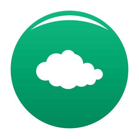 Translucent cloud icon green