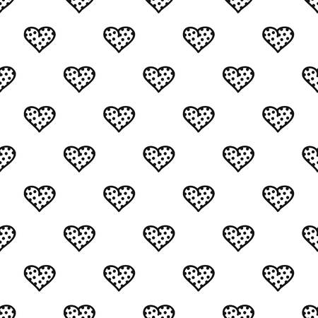 Pea heart pattern seamless