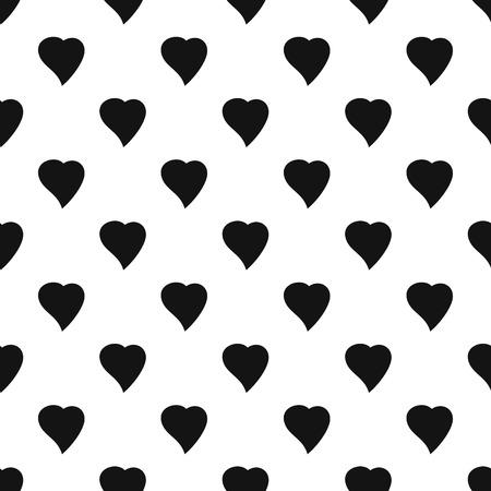 Black Heart pattern seamless 스톡 콘텐츠