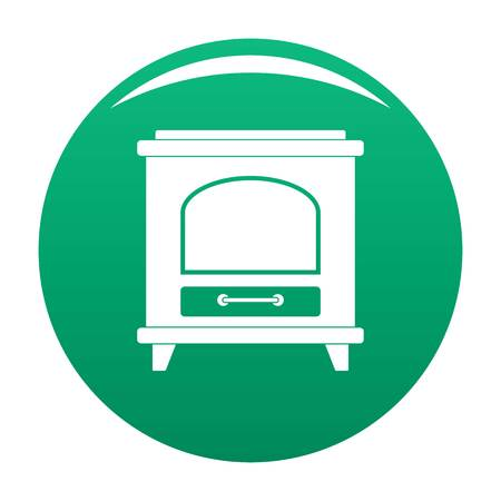 Ancient oven icon green Stock Photo