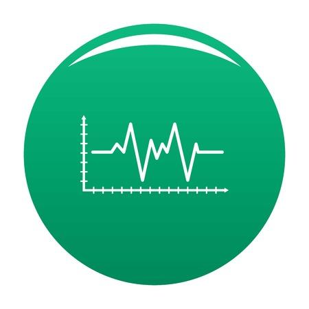 Cardiogram icon green