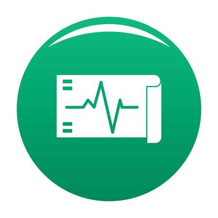 Electrocardiogram icon green