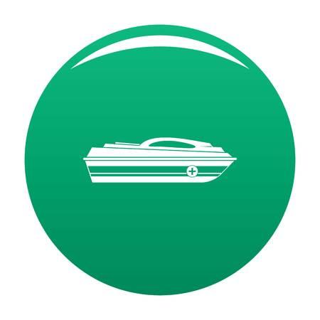 Boat icon green 版權商用圖片