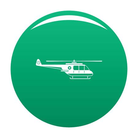 Helicopter icon green Stock Photo