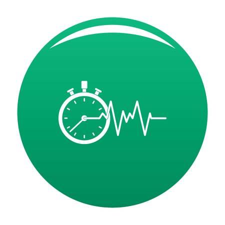 Encephalogram icon green