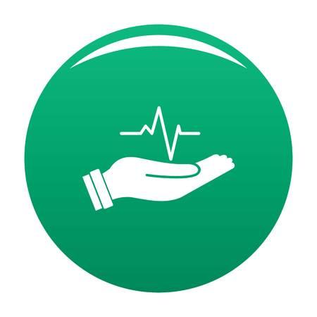 Heartbeat icon green